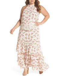 Glamorous - Floral & Lace Tiered Two-piece Dress (plus Size) - Lyst