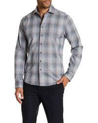 Tocco Toscano - Regular Fit Button Front Windowpane Shirt - Lyst