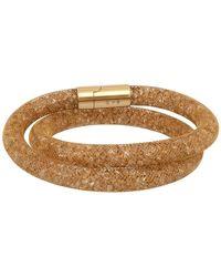 Swarovski - Stardust 23k Yellow Gold Crystal Filled Mesh Deluxe Bracelet - Lyst