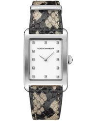 Rebecca Minkoff - Women's Patterned Moment Leather Watch, 25mm - Lyst