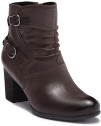 Josef Seibel - Britney Ruched Leather Ankle Boot - Lyst