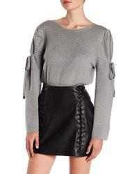 Lea & Viola | Bell Sleeve Tie Sweater | Lyst