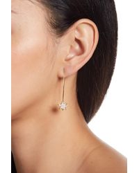 Rebecca Minkoff - Pave Cz Star Drop Threader Earrings - Lyst