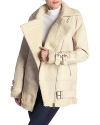 Walter Baker - Adele Faux Shearling Lined Leather Jacket - Lyst
