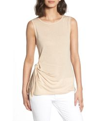 Trouvé - Trouv? Side Tie Knit Top - Lyst