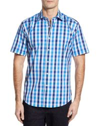 Bugatchi - Shaped Fit Check Sport Shirt - Lyst