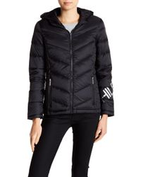 Tommy Hilfiger - Packable Puffer Jacket W/ Hoodie - Lyst