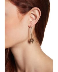 Jenny Packham - Pave Glass Crystal Burst Linear Threader Drop Earrings - Lyst