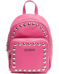 Love Moschino - Studded Fuxia Mini Backpack - Lyst
