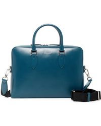 Burberry - Barrow Simple Leather Briefcase - Lyst