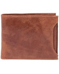 English Laundry Crunch Leather 2-in-1 Leather Bi-fold Wallet - Brown