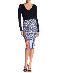 Eci - Printed Pencil Skirt - Lyst