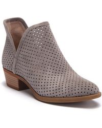 3639adf52bbf77 Nordstrom Rack · Lucky Brand - Brooklin Perforated Suede Bootie - Lyst
