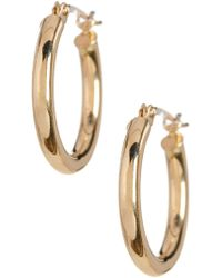 KARAT RUSH - 14k Yellow Gold 15mm Shiny Round Tube Hoop Earrings - Lyst