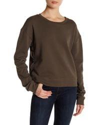 Black Orchid - Side Seam Lace Sweatshirt - Lyst
