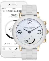 Marc Jacobs - Women's Riley Hybrid Smart Rubber Strap Watch, 42mm - Lyst