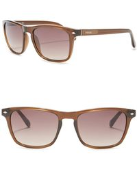 Fossil - Navigator Square 54mm Sunglasses - Lyst