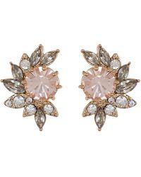Jenny Packham - Rose Crystal Cluster Stud Earrings - Lyst