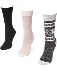 Muk Luks | Boot Socks- Pack Of 3 | Lyst