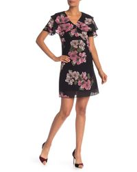 Nanette Nanette Lepore - Floral Tiered Ruffle Dress - Lyst