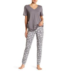 Joe Fresh - Printed Cuff Pants - Lyst