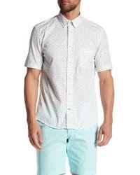 Benson - Short Sleeve Clover Print Regular Fit Shirt - Lyst