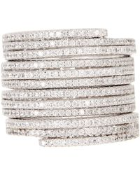 Savvy Cie Jewels - Crystal Stacking Band Ring - Lyst