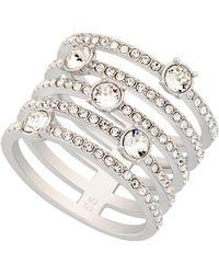 Swarovski - Creativity Rhodium Plated Crystal Ring - Size 6.75 - Lyst