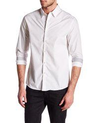 Kenneth Cole - Long Sleeve Slim Fit Dice Print Shirt - Lyst