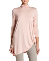 Karen Kane - Asymmetrical Turtleneck Top - Lyst