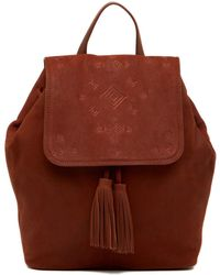 Lucky Brand - Plum Leather Backpack - Lyst