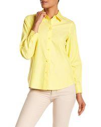 Foxcroft - Long Sleeve Shaped Diane Shirt - Lyst