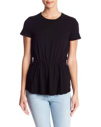 Stateside - Short Sleeve Drawstring Ruched Tee - Lyst