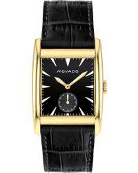 Movado - Men's Heritage Swiss Quartz Embossed Leather Watch, 41mm - Lyst