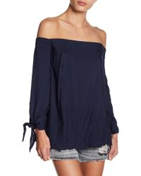 Jessica Simpson | Odette Off Shoulder Embroidered Blouse | Lyst