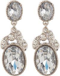 Jenny Packham - Crystal Stone Double Drop Earrings - Lyst