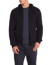 John Varvatos - Fleece Lined Zip Hoodie - Lyst