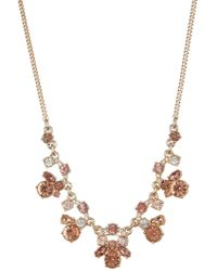 Givenchy - Blush Crystal Frontal Necklace - Lyst