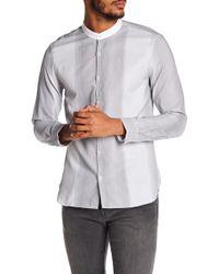 John Varvatos | Stitched Stripe Slim Fit Shirt | Lyst