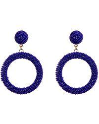 Suzanna Dai - Beaded Hoop Drop Earrings - Lyst