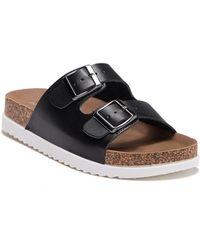 f3bf85f5e690 Lyst - Madden Girl Fancy Embellished Slide Sandal in Black