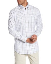 Peter Millar - Multi Pinwheel Check Print Regular Fit Shirt - Lyst