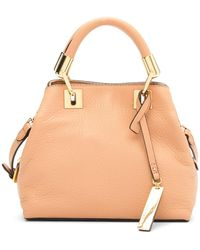Vince Camuto - Elva Studded Leather Small Satchel - Lyst