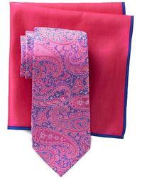 Ted Baker - Bandana Paisley Silk Tie & Pocket Square Set - Lyst