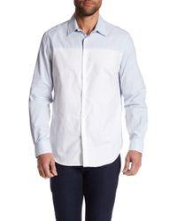 Perry Ellis - Colorblock Regular Fit Shirt - Lyst