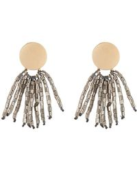 Panacea - Imitation Hematite Bead Mini Tassel Earrings - Lyst