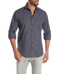 Tocco Toscano - Long Sleeve Checkered Sport Shirt - Lyst