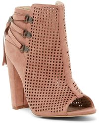 Catherine Malandrino - Mowglious Perforated Open Toe Bootie - Lyst