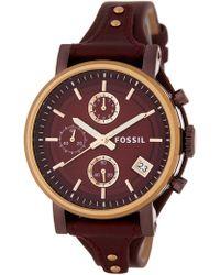 Fossil - Women's Original Boyfriend Leather Watch - Lyst