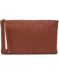 Christopher Kon - Woven Leather Pochette Bag - Lyst